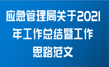 应急管理局关于2021年工作总结暨工作思路范文