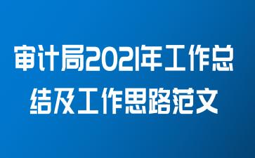 审计局2021年工作总结及工作思路范文